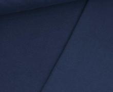 Jacquard Jersey - Feines Lochmuster - Uni - Stahlblau