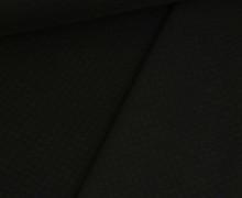 Leichter Steppstoff - Kleine Rauten - Doubleface - Schwarz