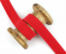 1 Meter elastisches Schrägband - 20mm - Jersey - Rot