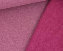 Leichter Kuschelsweat - Melange - 260g - Beere
