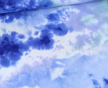 Musselin - Muslin - Double Gauze - Batikmuster - Blau/Hellblau/Weiß/Pastellgrün