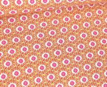 Viskose - Blusenstoff - Blütenartig - Beigegelb