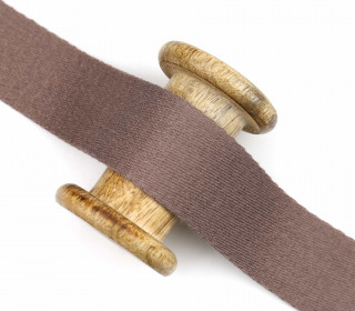 1m weiches Gurtband - 40mm - Taupe
