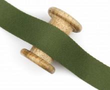 1m weiches Gurtband - 40mm - Farngrün