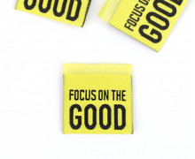 1 Label – FOCUS ON THE GOOD – Gelb