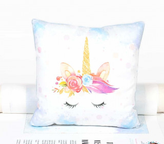 Kissenstoff - DIY - Little Unicorn - Aquarell - abby and me