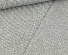 Jacquard – Weich – Zopfmuster – Grau