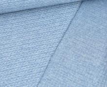 Jacquard – Weich – Zopfmuster – Hellblau