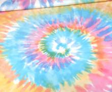 Badelycra - Badestoff - Tie-Dye Love - Batik - Spirale - Bunt - Paneel - abby and me
