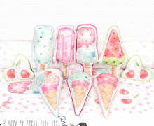 Kissenstoff - DIY - I Like Ice Cream - Treeebird - abby and me