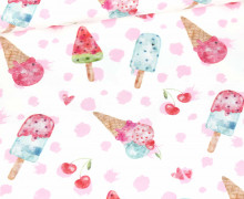 Jersey - Bio Qualität - I Like Ice Cream - Dots - Weiß - Treeebird - abby and me
