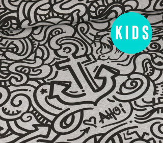 Sommersweat – UrbanArt – Anchor – Kids Edition – Paneel – Grau Meliert – abby and me