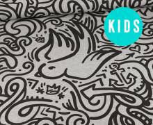 Sommersweat - UrbanArt - Dove - Kids Edition - Paneel - Grau Meliert - abby and me