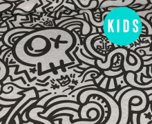Sommersweat - UrbanArt - Skull - Kids Edition - Paneel - Grau Meliert - abby and me