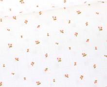 Musselin - Muslin - Little Cherry - Double Gauze - Weiß