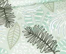 Jersey - Tropix - Leaves - Bio-Qualität - Mint - abby and me