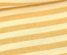 Musselin - Muslin - Melange - Streifen - Double Gauze - Ecru/Ocker