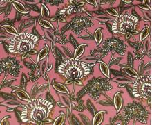 Blusenstoff - Pearl Peach -Paisley Blumen - Altrosa