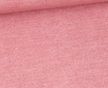 Sommersweat - French Terry - Bedruckt - Jeansoptik - Altrosa