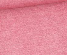 Sommersweat - French Terry - Bedruckt - Jeansoptik - Rosa