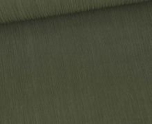Plissee Viskose - Plissee-Struktur - Fibre Mood - Olivgrün