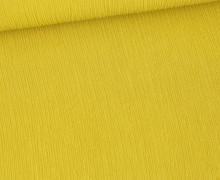 Plissee Viskose - Plissee-Struktur - Fibre Mood - Olivgelb