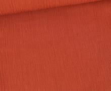 Plissee Viskose - Plissee-Struktur - Fibre Mood - Rostorange