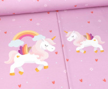 Modal Jersey - Born To Be A Unicorn - Paneel - Lavendel Rosa - Bio-Qualität - abby and me