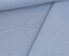 Doppelter Sommersweat - Baumwolle - Doubleface - Unregelmäßige Lochstruktur - Hellblau
