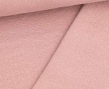 Doppelter Sommersweat - Baumwolle - Doubleface - Unregelmäßige Lochstruktur - Altflieder
