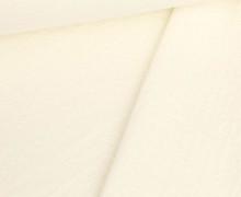 Doppelter Sommersweat - Baumwolle - Doubleface - Unregelmäßige Lochstruktur - Warmweiß