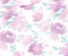 Sommersweat - Sweet Flowers - Kombistoff - Weiß - Bio Qualität - Nikiko - abby and me
