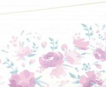 Sommersweat - Sweet Flowers - Paneel - Weiß - Bio Qualität - Nikiko - abby and me