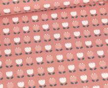 Bio Jersey - Organic Cotton - Tulpenfeld - Altrose
