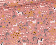 Bio Jersey - Organic Cotton - Tierparadies - Altrose