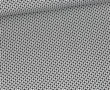 Baumwolle - Webware - Kleines Sternenmuster - Weiß/Schwarz