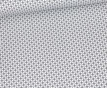Baumwolle - Webware - Kleines Sternenmuster - Weiß/Grau