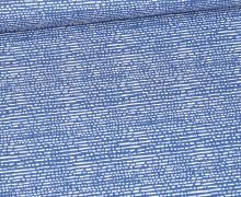 Baumwolle - Webware - Getricheltes Muster - Himmelblau