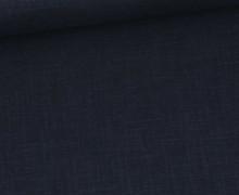 Ramie - Leinen - Naturfaser - Uni - Stahlblau