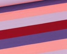 Jersey - Bunte Breite Streifen - Multicolor - Lila/Flieder/Dunkelrot/Lachsrosa
