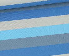 Jersey - Bunte Breite Streifen - Multicolor - Grau/Beige/Hellblau/Himmelblau