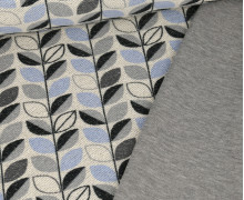 Sommersweat - Back Side Print - Blätter - Schwarz