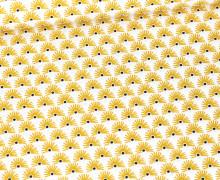 Baumwolle - Webware - Fächerblüten - Weiß