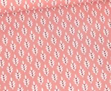 Baumwolle - Webware - Getreideblüten - Altrosa