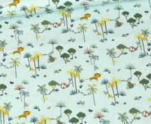 Bio Baumwolle - Webware - Organic Cotton - Little Safari - Mint