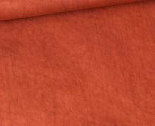 Viskose - Blusenstoff - Vintage - Rostorange