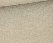 Bambus-Musselin - Double Gauze - Uni - Beigegrau