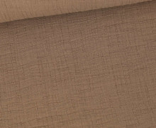 Bambus-Musselin - Double Gauze - Uni - Braun
