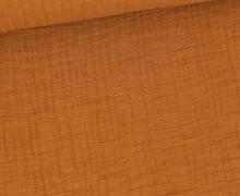 Bambus-Musselin - Double Gauze - Uni - Rostbraun