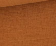 Bambus-Musselin - Double Gauze - Uni - Rehbraun